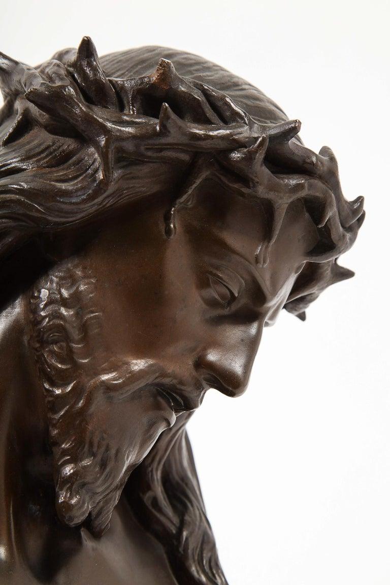 Jean-Baptiste Auguste Clesinger, French Bronze Bust of Jesus Christ, Barbedienne For Sale 13