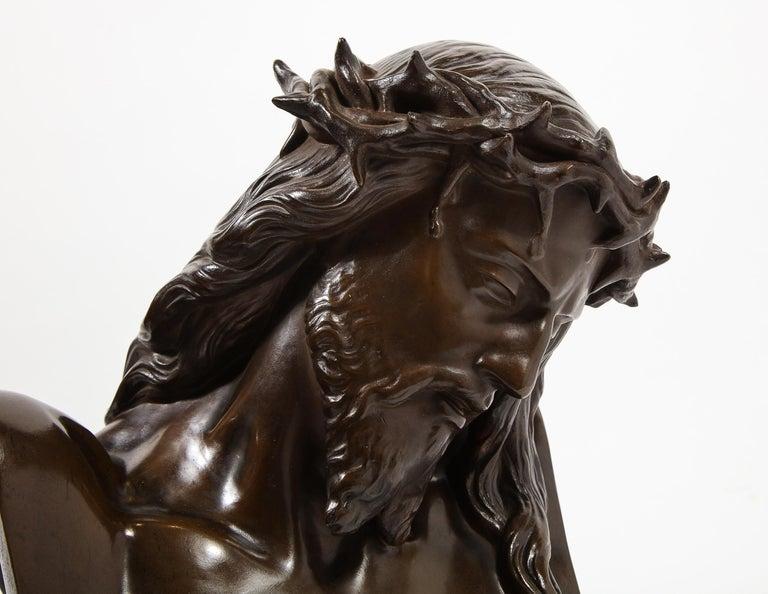Jean-Baptiste Auguste Clesinger, French Bronze Bust of Jesus Christ, Barbedienne For Sale 15