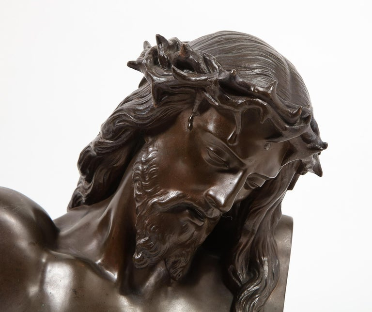Napoleon III Jean-Baptiste Auguste Clesinger, French Bronze Bust of Jesus Christ, Barbedienne For Sale