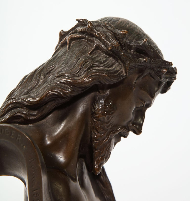 Jean-Baptiste Auguste Clesinger, French Bronze Bust of Jesus Christ, Barbedienne 1