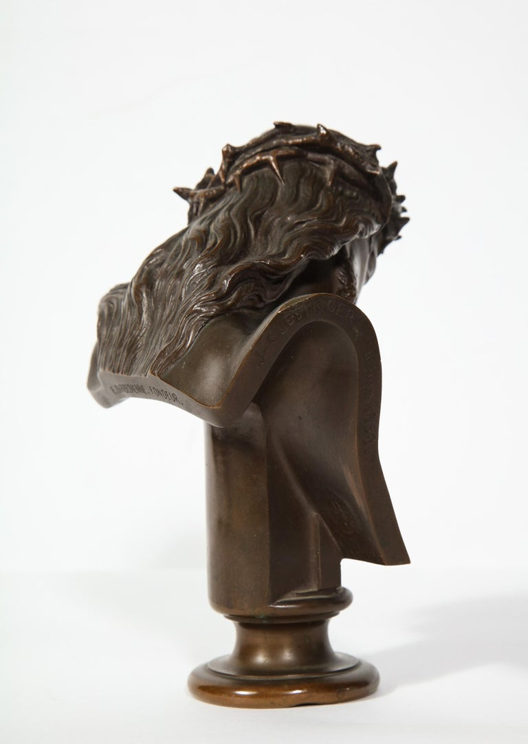 Jean-Baptiste Auguste Clesinger, French Bronze Bust of Jesus Christ, Barbedienne 3