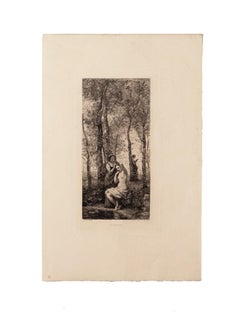 La Toilette - Original Etching after Camille Corot - Early 20th Century