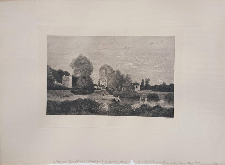 L'Etang a Ville d'Array - Print by Jean-Baptiste-Camille Corot