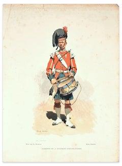 Tambour du 42° Regiment D'Highlanders - Lithograph End of 19th Century