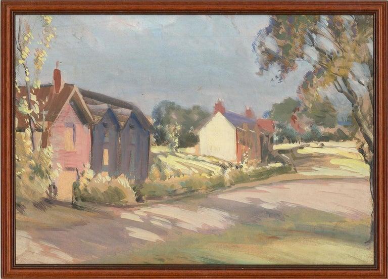 Jean-Baptiste Grancher (1911-1974) - Mid 20th Century Oil, Summer Street Scene For Sale 1