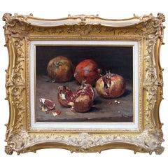 Jean-Baptiste Olive, Pomegranate Still life Painting
