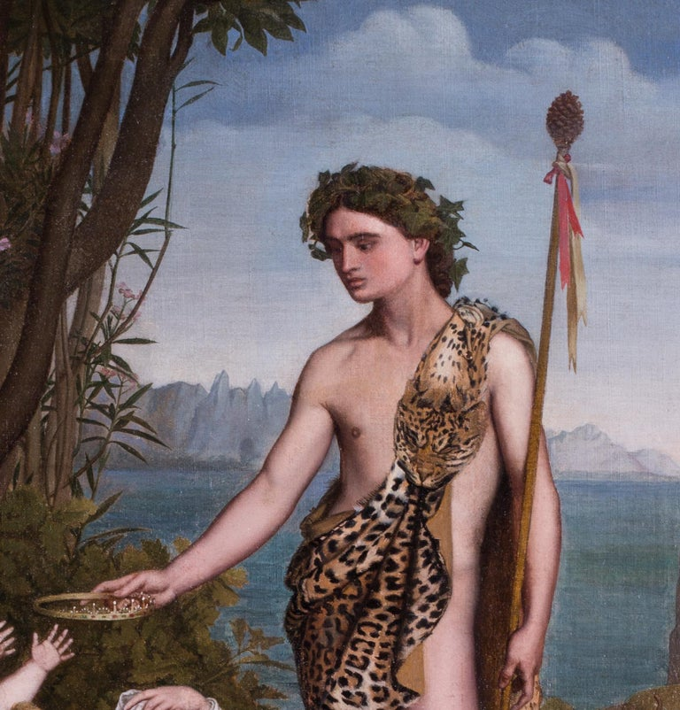 A 19th Century French classical painting of Bacchus crowning Ariadne by Poncet 3