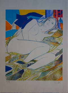 Blue Eyes - Original handsigned lithograph - 199ex