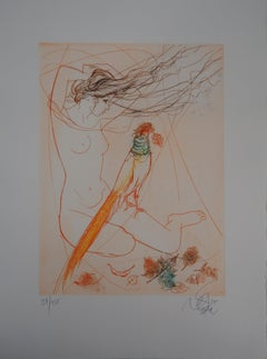 Fall : Woman with a Pheasant - Original Etching, Handsigned
