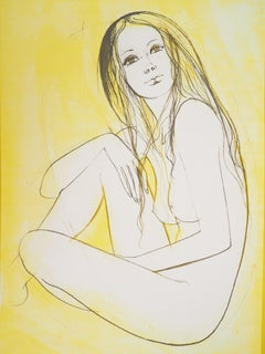 Seated Nude - Original handsigned lithograph