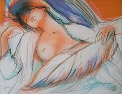 Sensuality - Original handsigned lithograph - Ltd 250