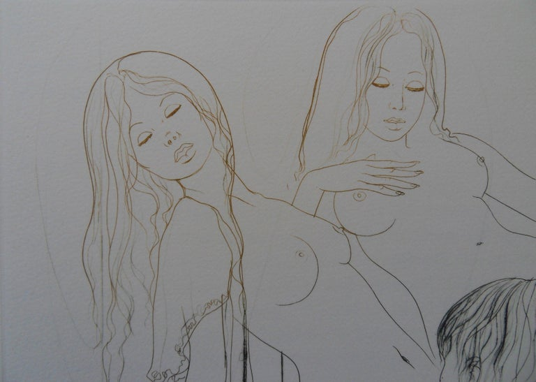 The Twins - Original handsigned etching - Print by Jean-Baptiste Valadie