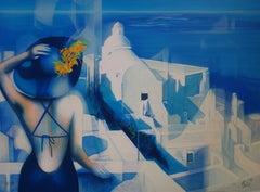 White Light of Santorini - Original handsigned lithograph - 199ex