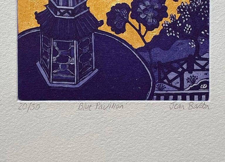 Blue Pavilion - Contemporary Print by Jean Bardon