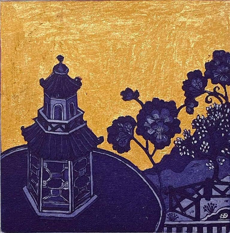 Jean Bardon Still-Life Print - Blue Pavilion