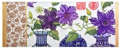 Clematis, etching with gold leaf by Jean Bardon
