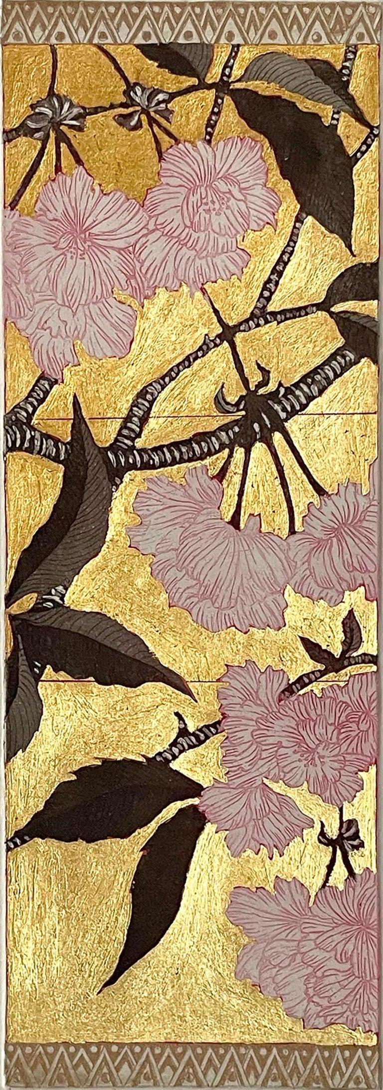 Jean Bardon Still-Life Print - Detail Cherry Blossom 1