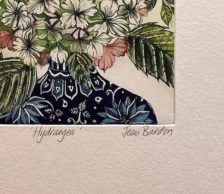 Hydrangea  - Contemporary Print by Jean Bardon