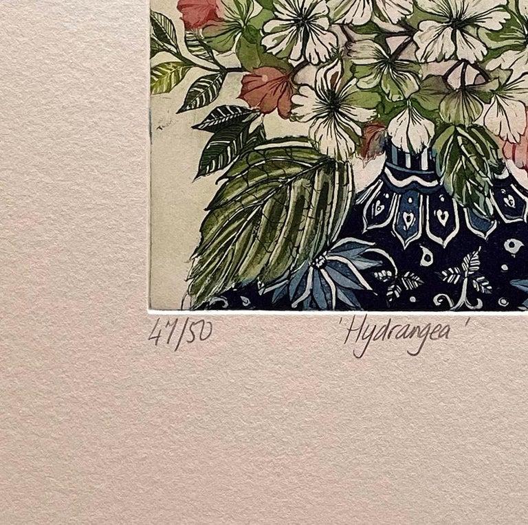 Hydrangea  - Beige Still-Life Print by Jean Bardon