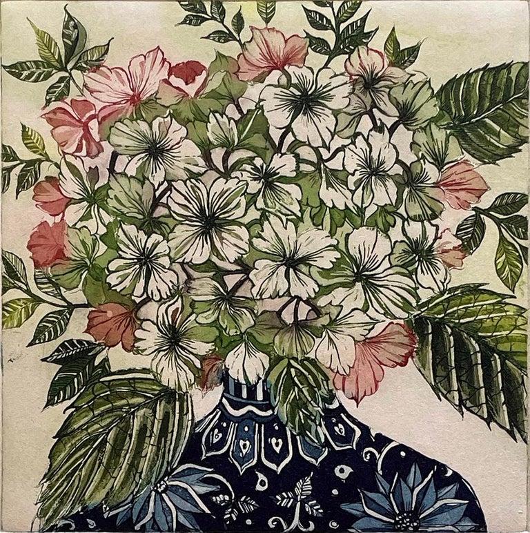 Jean Bardon Still-Life Print - Hydrangea