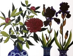 Kilcullen Paeony and Dark Irises for Teresa