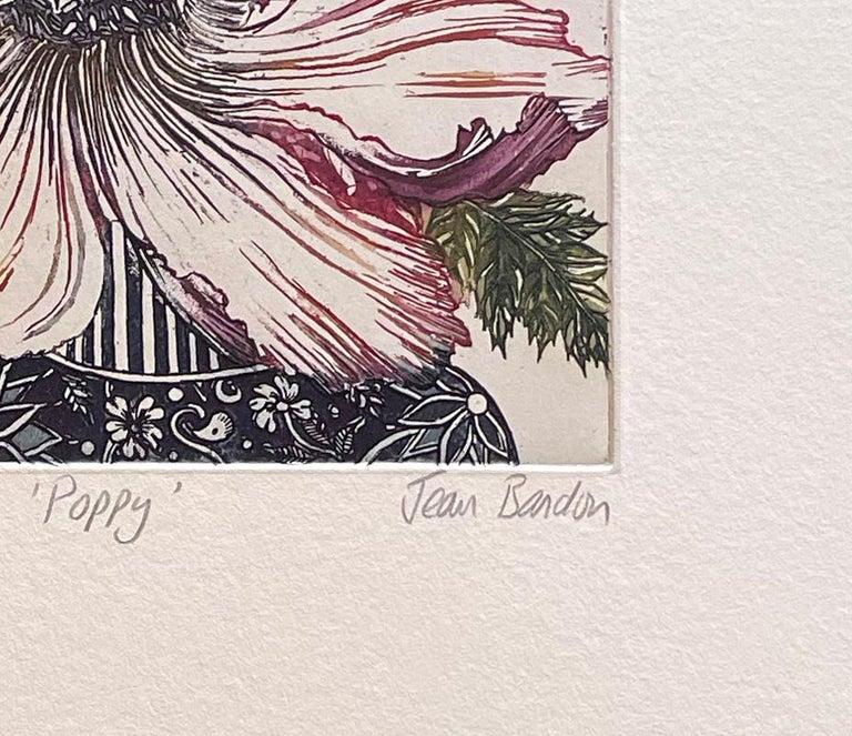 poppy - Contemporary Print by Jean Bardon
