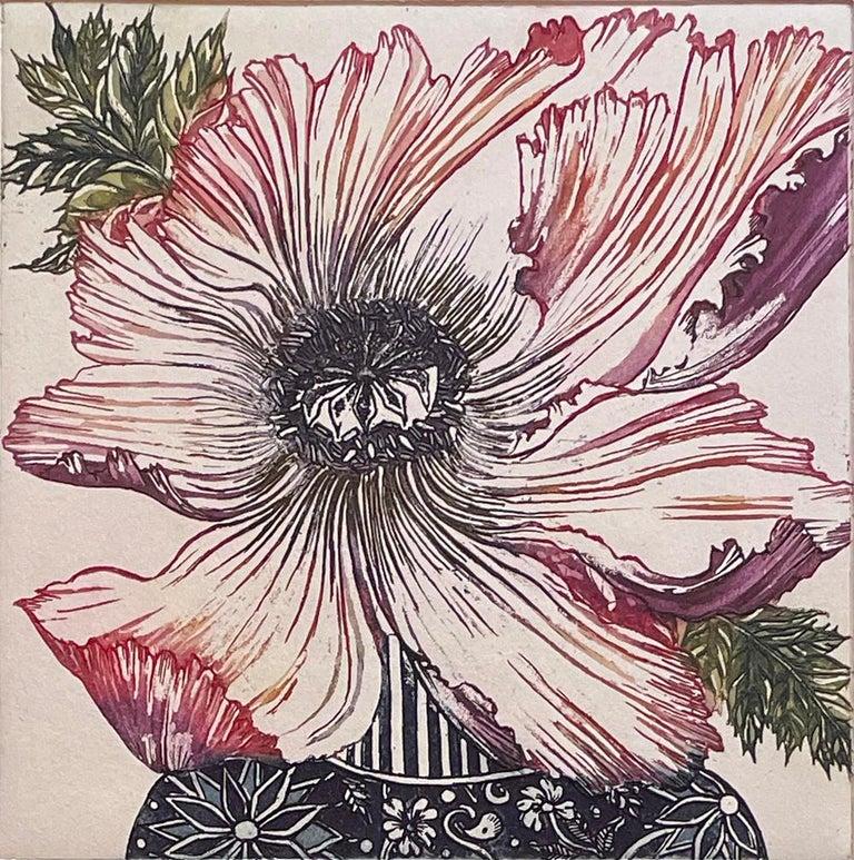 Jean Bardon Still-Life Print - poppy