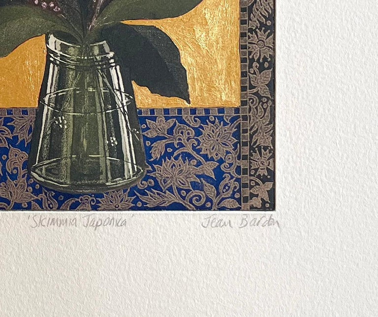 Skimmia Japonica - Contemporary Print by Jean Bardon