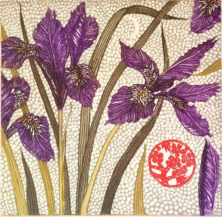 Jean Bardon Still-Life Print - Winter Iris