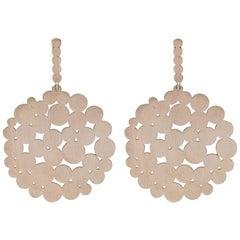 Jean Basse Gold Circle Drop Earrings