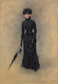 La Parisienne - Portrait, Oil Portrait, Jean Beraud, Late 19th Century