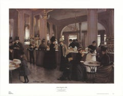1996 Jean Beraud 'A Paris Patisserie' Brown,Black & White Offset Lithograph