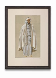 """""""City Notable"""" from """"Costumes of Morocco"""", Gouache on Paper"""