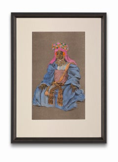 """""""Formal Dress Called <Of The Maghzen>"""", from """"Costumes of Morocco"""""""