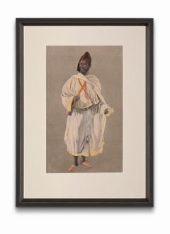 """""""The Sultan's Moghazni"""" from """"Costumes of Morocco"""", Gouache on Paper"""