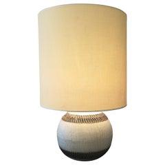 Jean Besnard Ceramic Table Lamp circa 1930, Signed