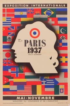 1937 Jean Carlu Paris Exposition Poster
