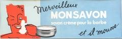Vintage French Shaving Cream Advertisement Poster 'Mon Savon'