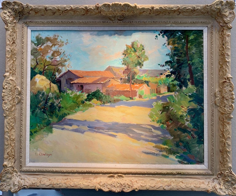 Jean Chaleye was considered one of the most important French post impressionist artists. He was born to working class parents on 22.4.1878 at St. Etienne and died at Le Puy in 1960. He trained at the Ecole des Beaux Arts in Lyon, then at the Ecole