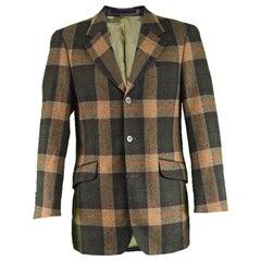 Jean Charles de Castelbajac Brown, Orange & Green Men's Checked Sport Coat