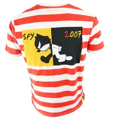 Jean Charles de Castelbajac Felix the Cat Men's Red & White Short Sleeve T Shirt