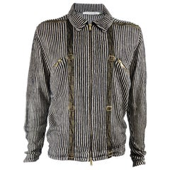 Jean Charles De Castelbajac Mens Linen Knit Vintage Jacket