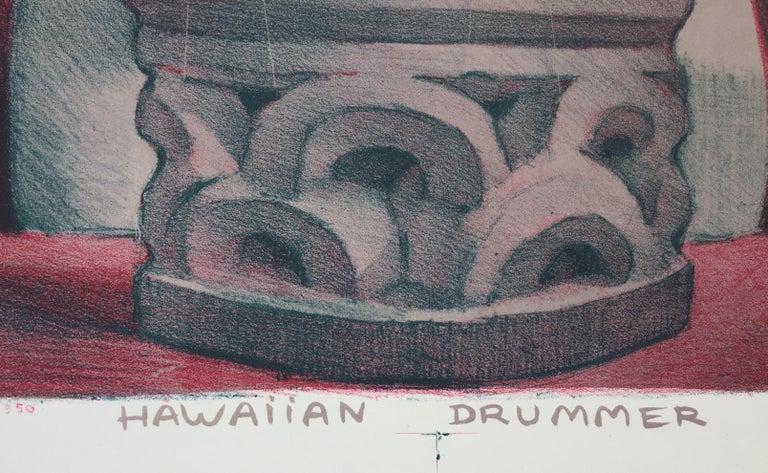 HAWIIAN DRUMMER - Print by Jean Charlot