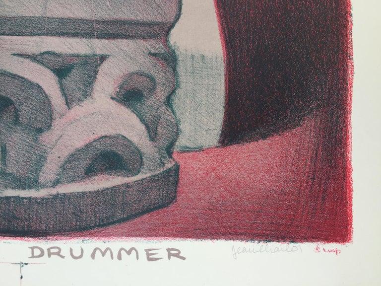HAWIIAN DRUMMER - American Modern Print by Jean Charlot