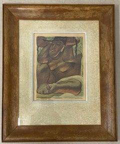"Jean Charlot ""Idol"" Framed Lithograph C.1933"