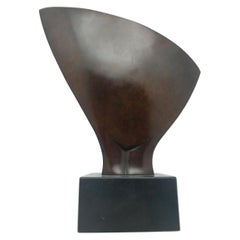"Jean Chauvin, Abstract Bronze, Patina, Signed Numbered 2/5, Title ""Hirondelle"""