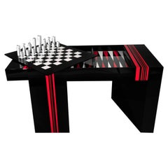 Jean-Claude Farhi Methacrylate Game Table, Unique Piece