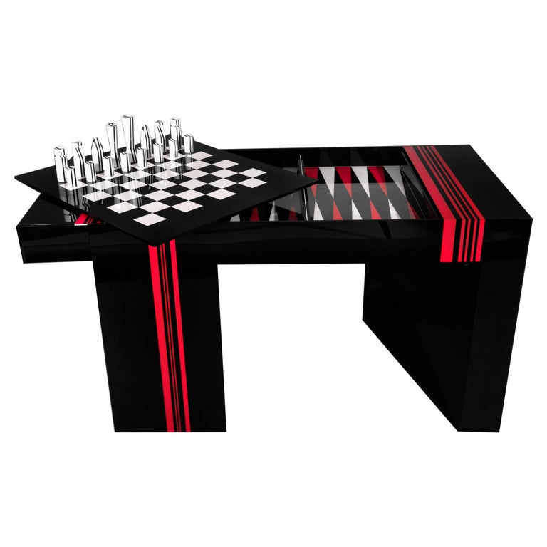 Jean-Claude Farhi Methacrylate Game Table, Unique Piece For Sale