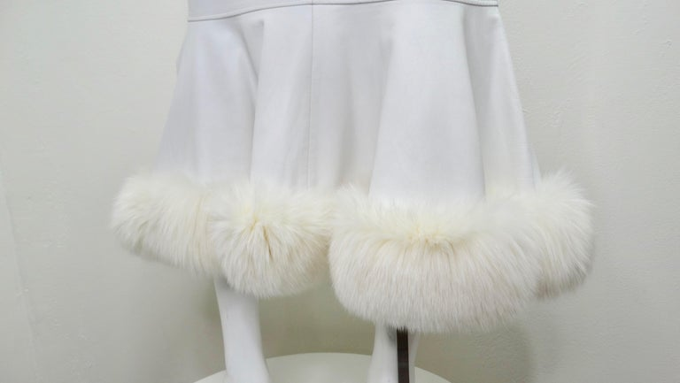 Jean-Claude Jitrois Couture Leather Fur Trim Skirt  For Sale 5