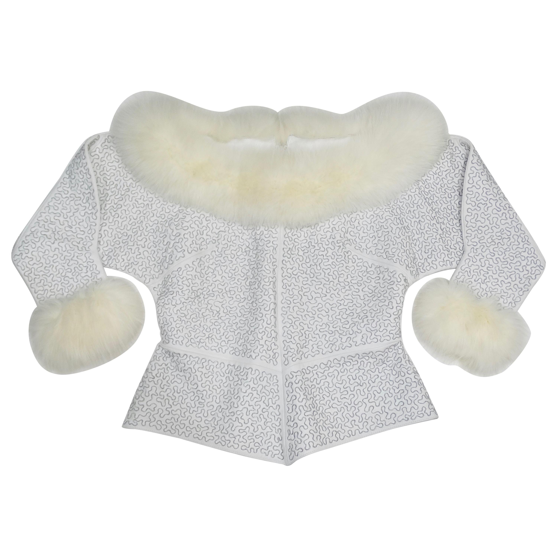 Jean-Claude Jitrois Couture White Leather Top